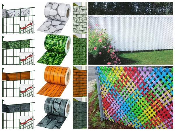 Производители заборных лент стараются разнообразить цвета и рисунки