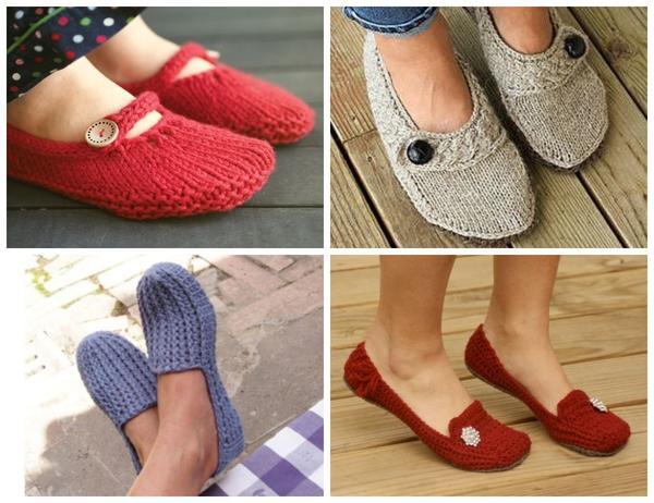 Вязаные копии обычной обуви