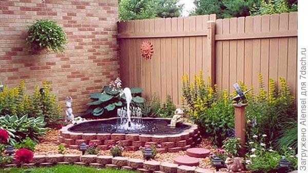 Фонтан в саду