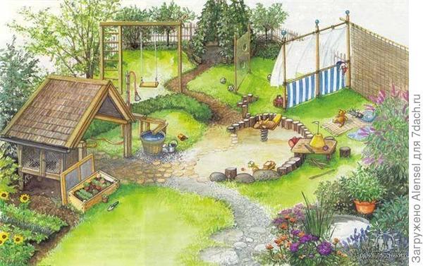 План детской площадки 2