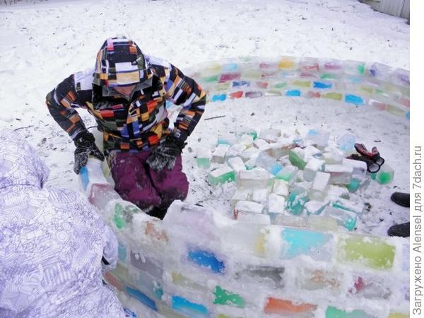Строительство из ледяных кирпичей