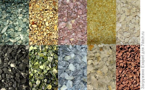 разноцветный гравий