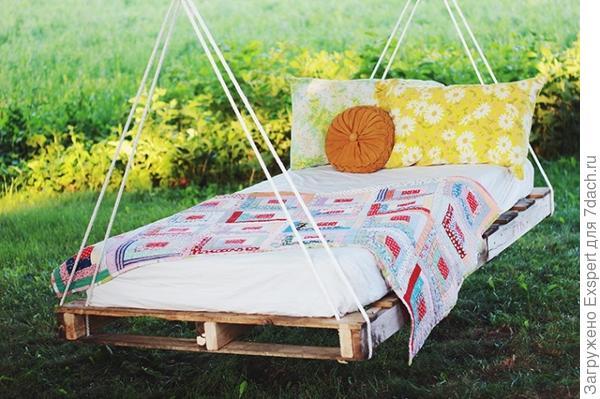 Гамак-кровать из паллет