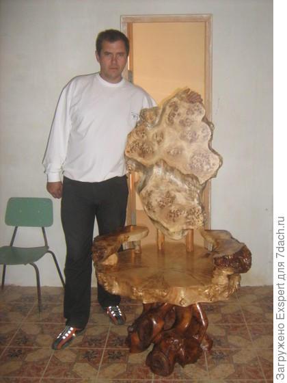 Кресло-трон, капа тополь