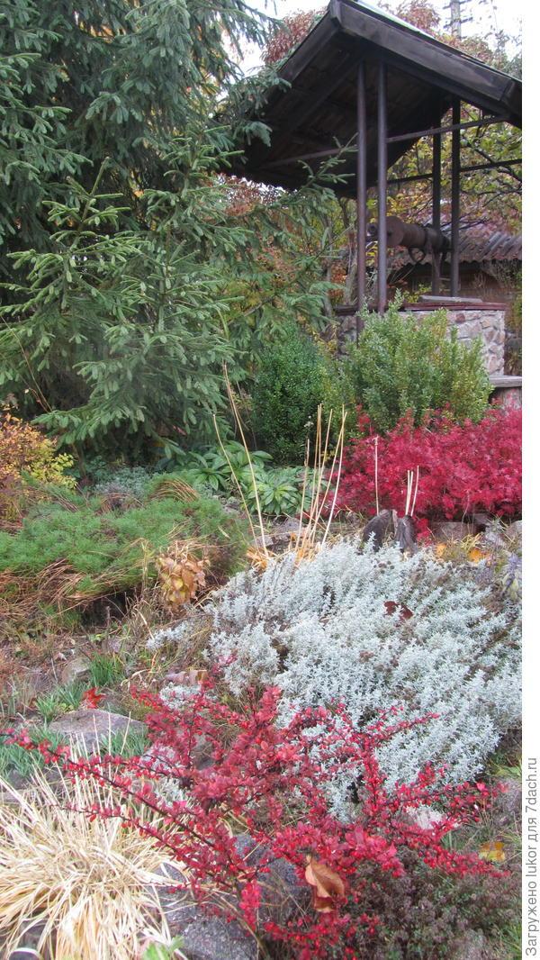 Колодец тоже украшает сад