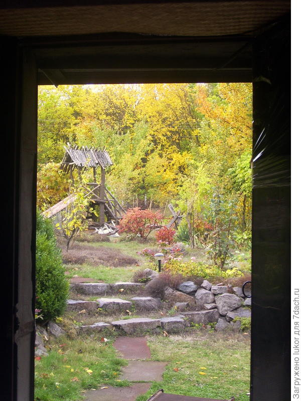 Окно (дверной проем) в сад