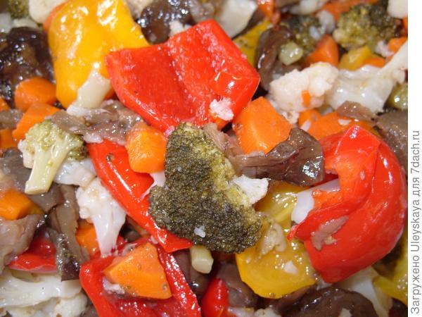 Салат с использованием капусты цветной.