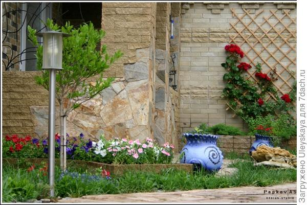 Декорирование стен вьющимися розами