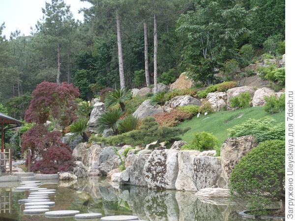Японский сад в стиле горного сада