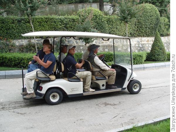 Широ Накане со своими помощниками в парке ЛОК Айвазовское