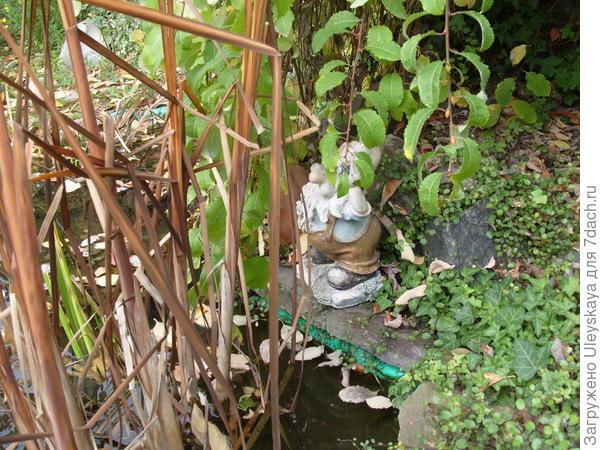 Гном будет охранять водоем и зимой