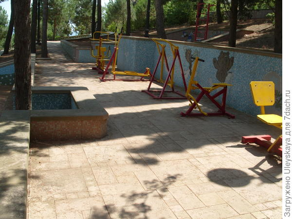 4-й уровень детской площадки с тренажерами для взрослых