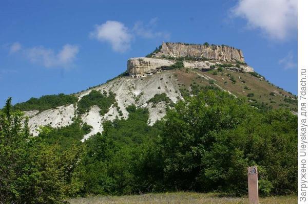 Тепе-Кермен – самый высокий пещерный город Крыма, фотография весенняя