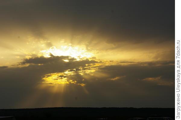 Закат над Федюхиными горами