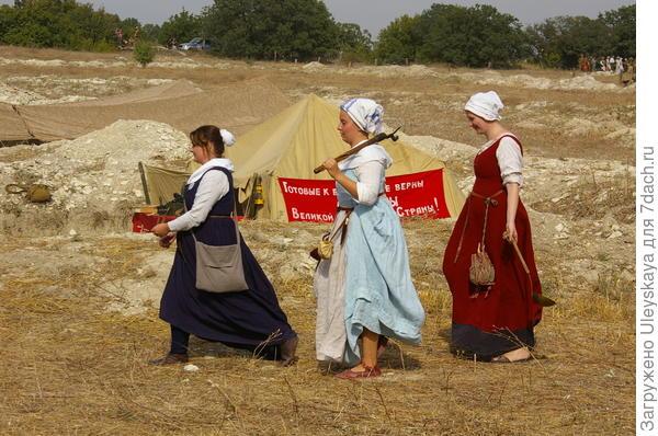 На Крымском военно-историческом фестивале, Федюхины горы, 12 сентября