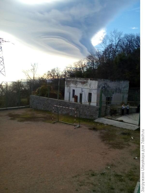 Облако днем