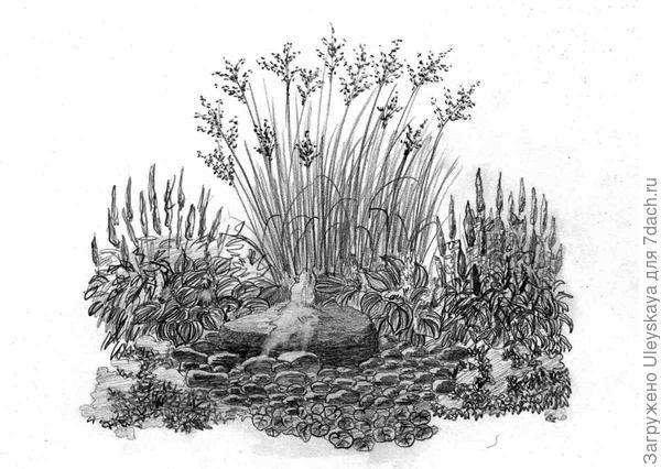 Симметричная композиция у фонтанчика