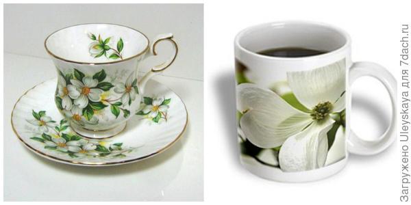 Чашки с изображением восточных кизилов. Фото с сайтов benchership10.rssing.com и guideimg.alibaba.com