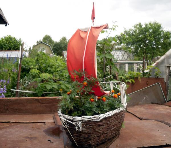 Кораблик из корзины