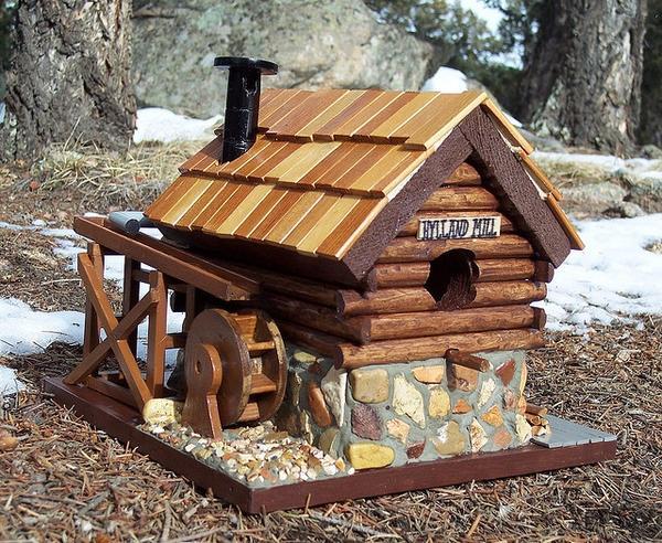 Птичий домик-мельница