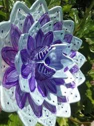 Стеклянные цветы для сада