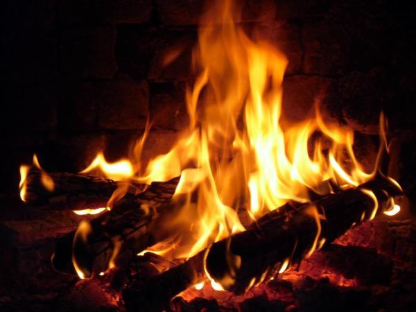 Огонь в печке