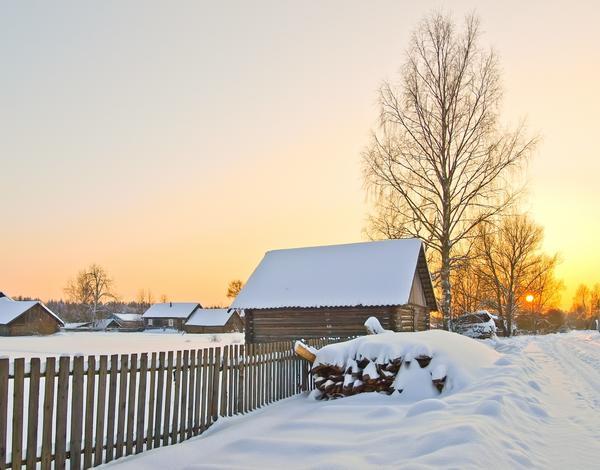Солнечное и морозное утро