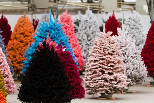 Разноцветные елки