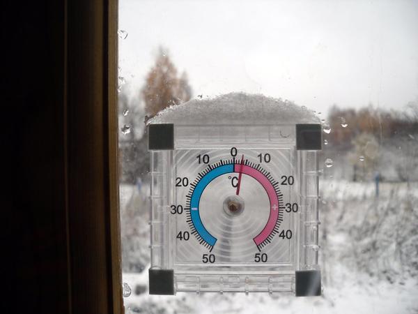 На термометре пока плюс
