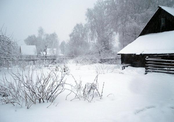 Все моментально укрылось снегом