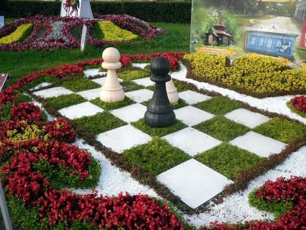 Шахматный цветник