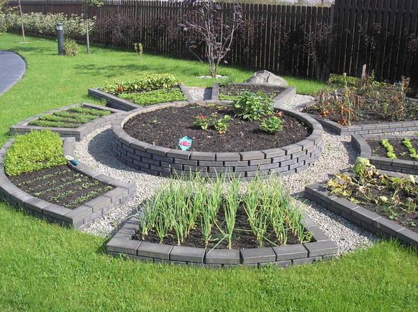 Огород в регулярном стиле. Фото с сайта landstudia.ru