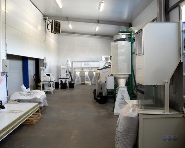 На новом семенном заводе самое современное оборудование