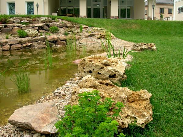 Выбор камней для декорирования водоема и их размещение - очень важные нюансы