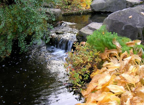 Самым естественным образом ручей течет там, где есть перепад высоты
