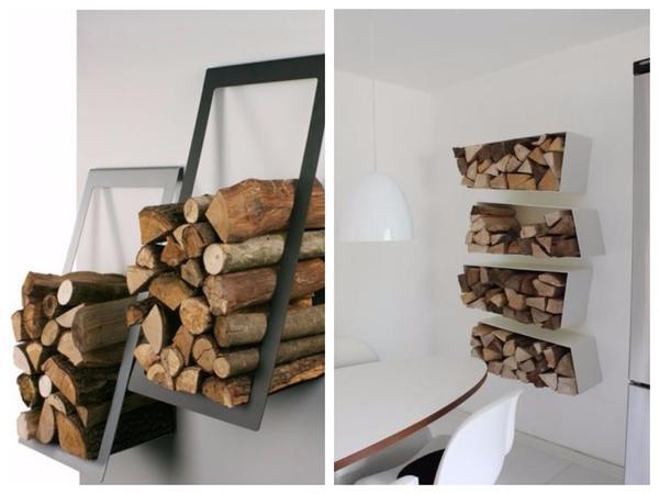 Оригинальные полки для дров
