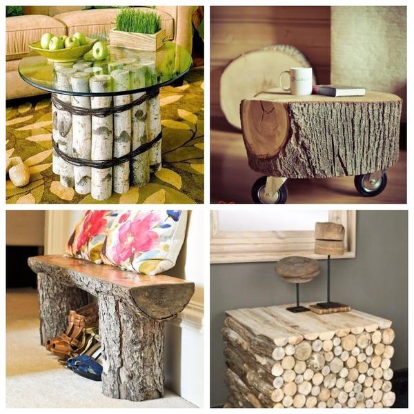 Из дров получается оригинальная дачная мебель