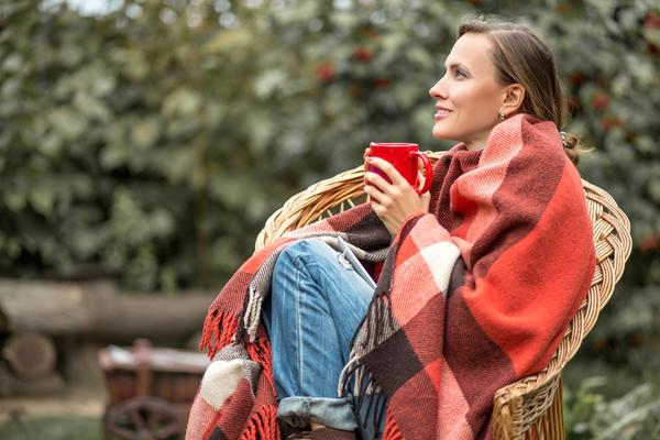 Шерстяной плед - то, что надо для уютного отдыха