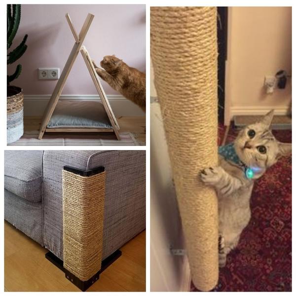 Если коту удобно точить когти, то и хозяйская мебель в целости и сохранности
