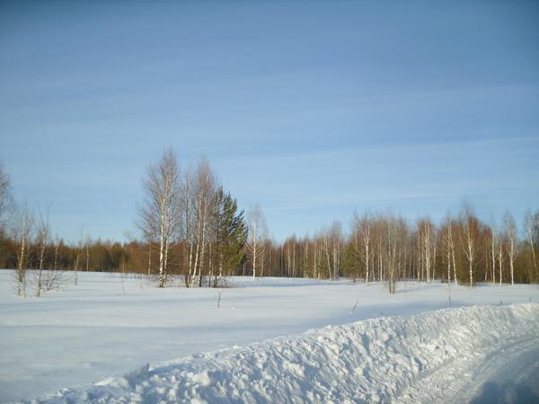 Снежно и солнечно