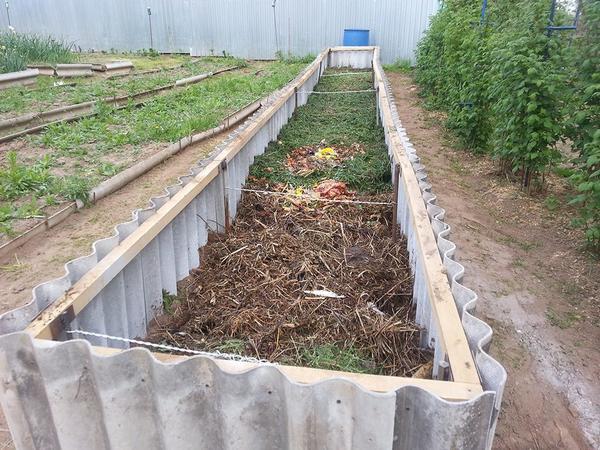 Наполнение теплой грядки. Фото с сайта sadovodu.com