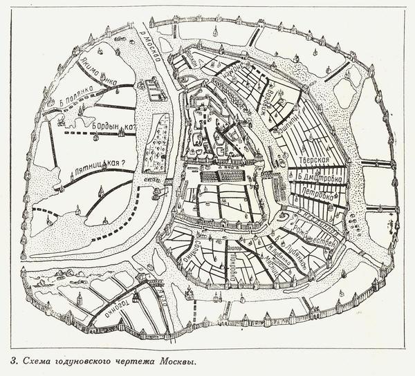 А вот так схема Москвы выглядела в старину