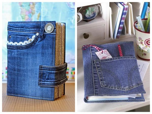 Стильная обложка из старой джинсы