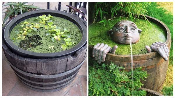 Мини-болотце - вариант на любителя, зато никакой мороки с растениями