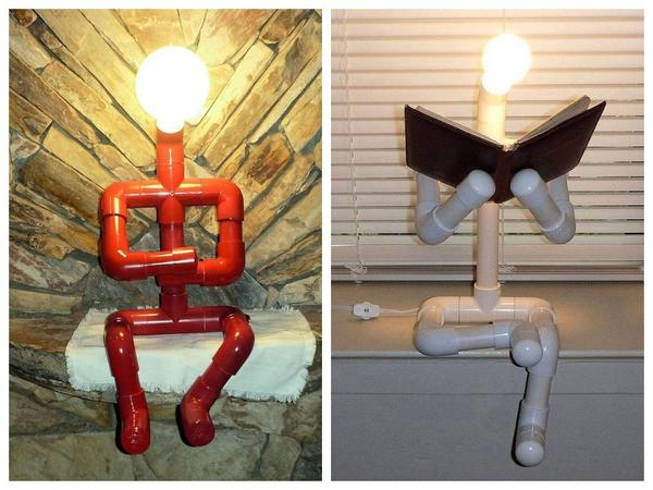 Креативные светильники из полипропиленовых труб