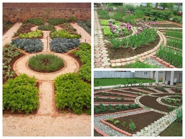 Огород с грядками-сегментами: вечно популярная классика