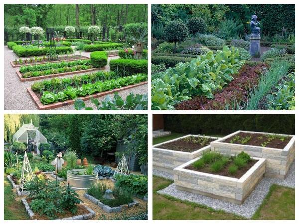 Красивые огороды могут быть разными, но у них легко отыскать общие черты