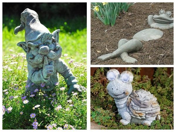 Интересные каменные фигурки для сада