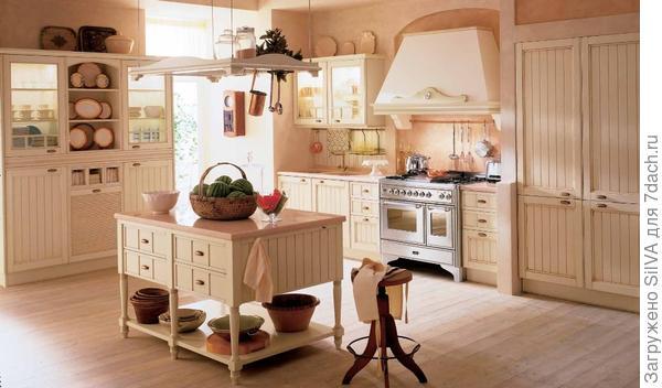 кухня в романтическом кантри- стиле