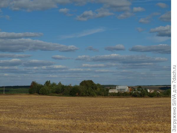 голубые небеса и убранные поля
